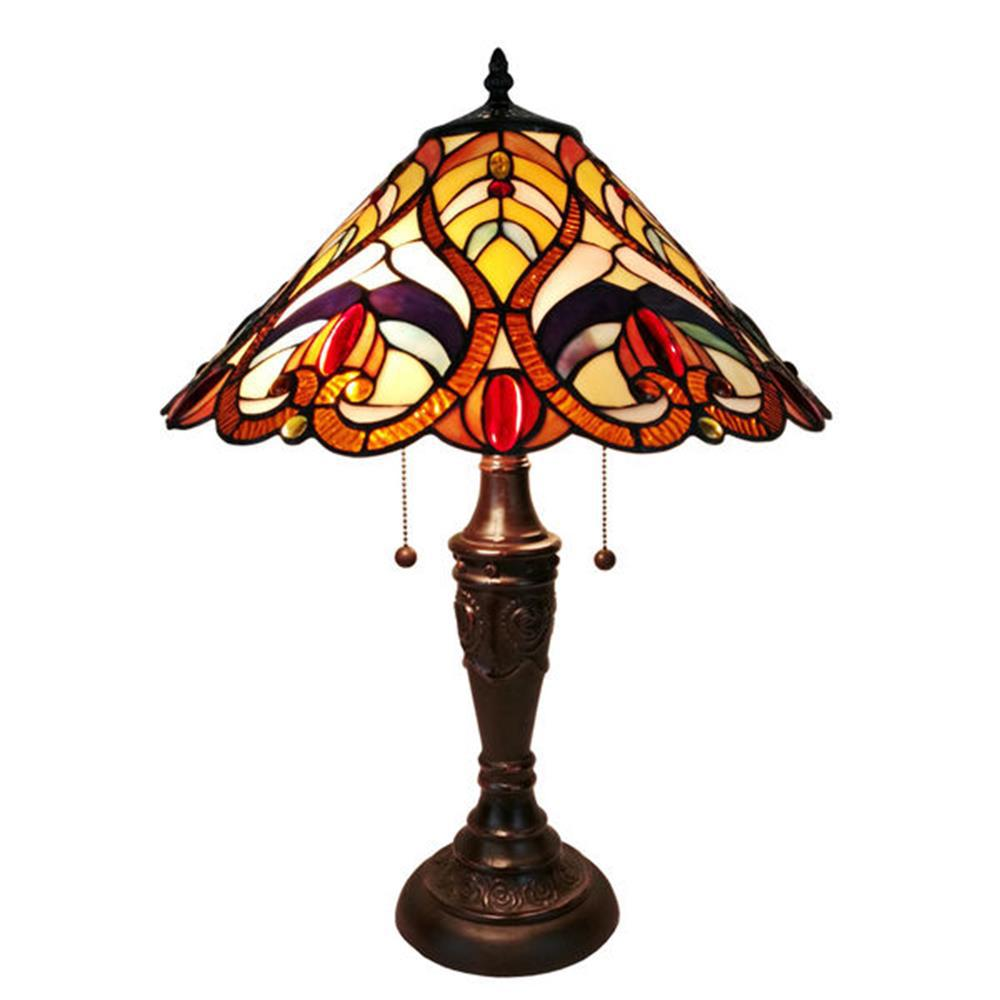 24 in. Tiffany Style Victorian Finish Table Lamp