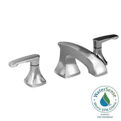 Copeland 8 in. Widespread 2-Handle Low-Arc Bathroom Faucet in Brushed Nickel with Metal Speed Connect Pop-Up Drain