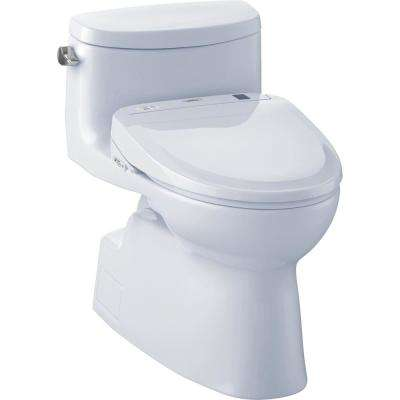 Carolina II Connect 1-Piece 1.28 GPF Elongated Toilet with Washlet S350e Bidet and CeFiOntect in Cotton White