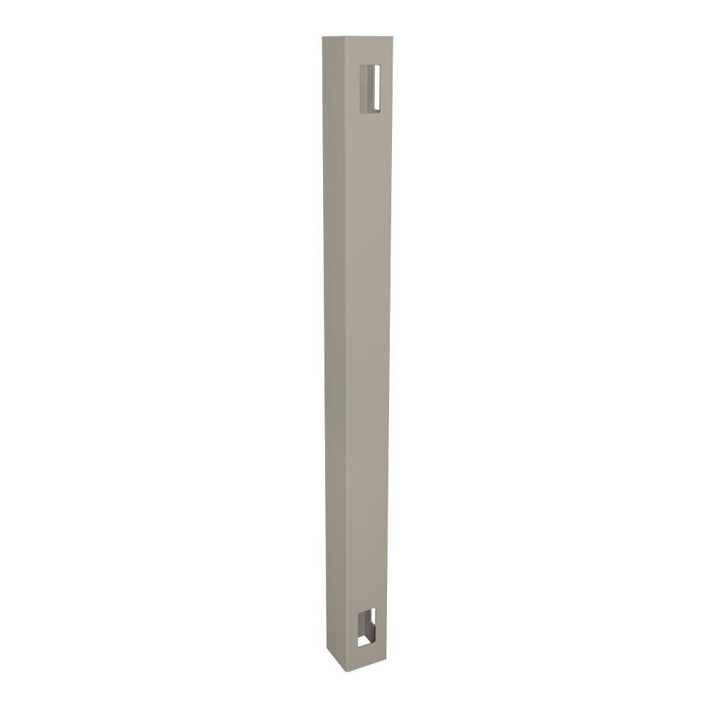 4 in. x 4 in. x 7 ft. Khaki Vinyl Fence