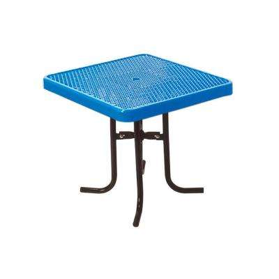 36 in. Diamond Blue Commercial Park Square Low Food Court Portable Table