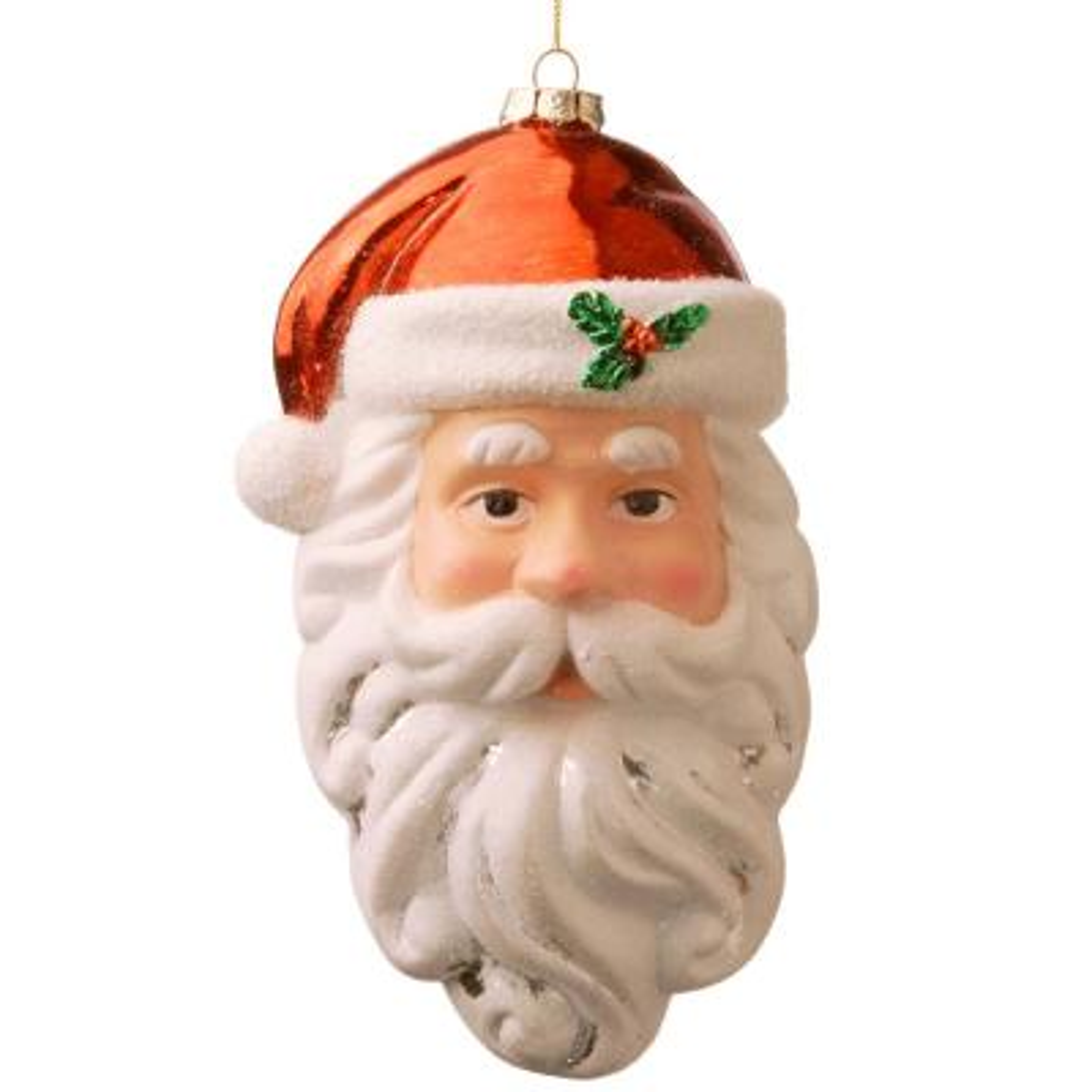 10 in. Santa Ornament Set