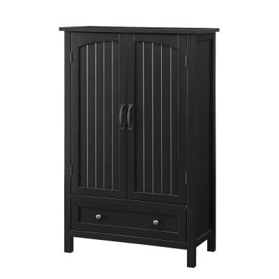 Farmhouse Black Storage Pantry with Drawer
