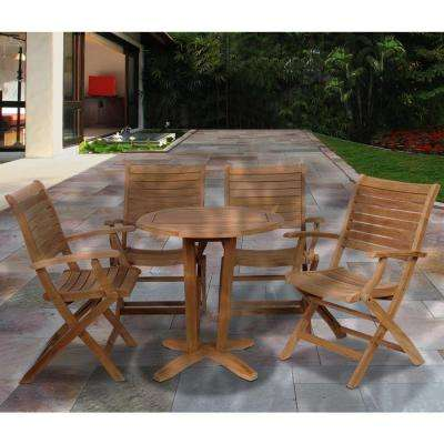 Aruba Teak 5-Piece Patio Dining Set