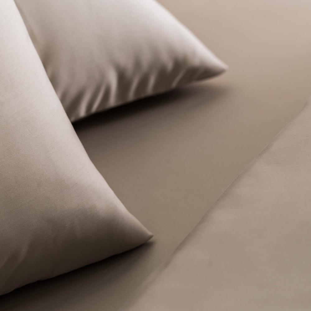 5 Pieces Split Sheets Sets For Adjustable Beds 1000 TC Cotton Dark Grey Solid