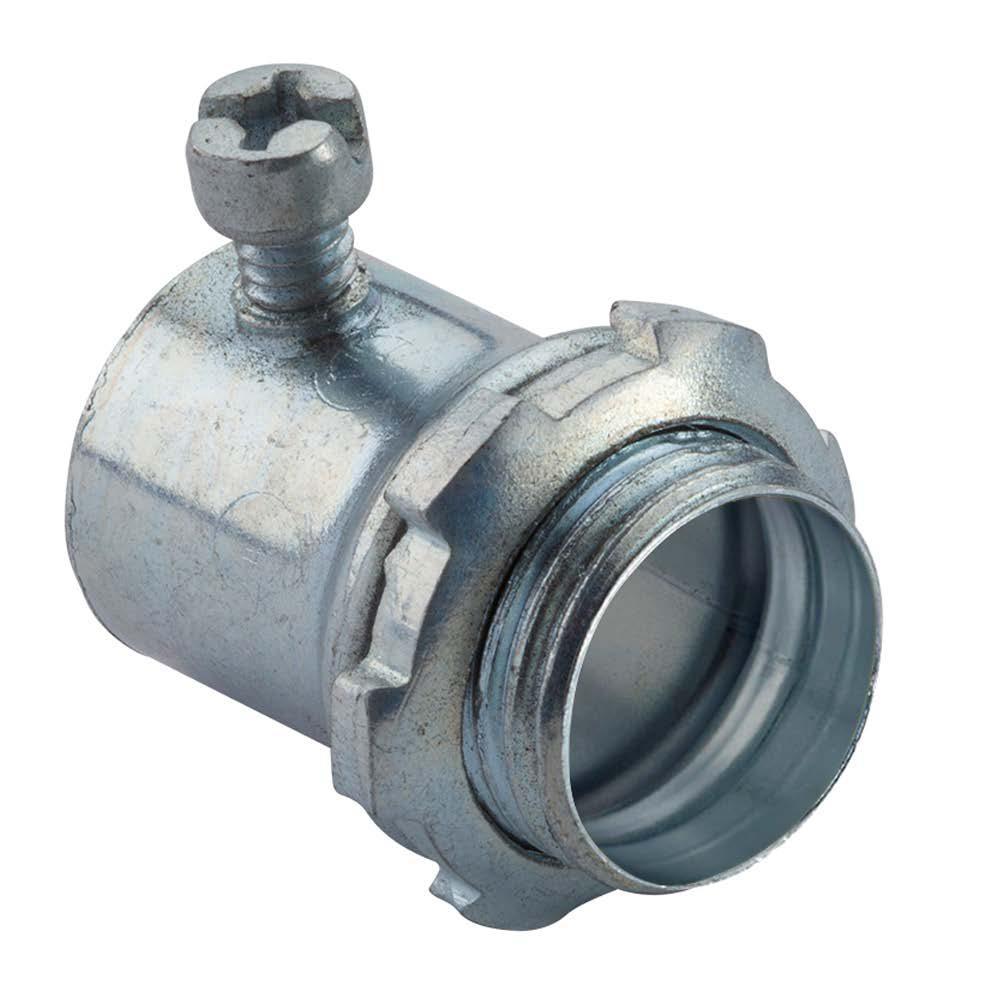 Halex 1/2 in. Electrical Metallic Tube (EMT) Set-Screw Connectors (50-Pack)