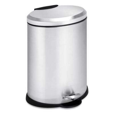 3 Gal. Stainless Steel Oval Step-On Touchless Trash Can