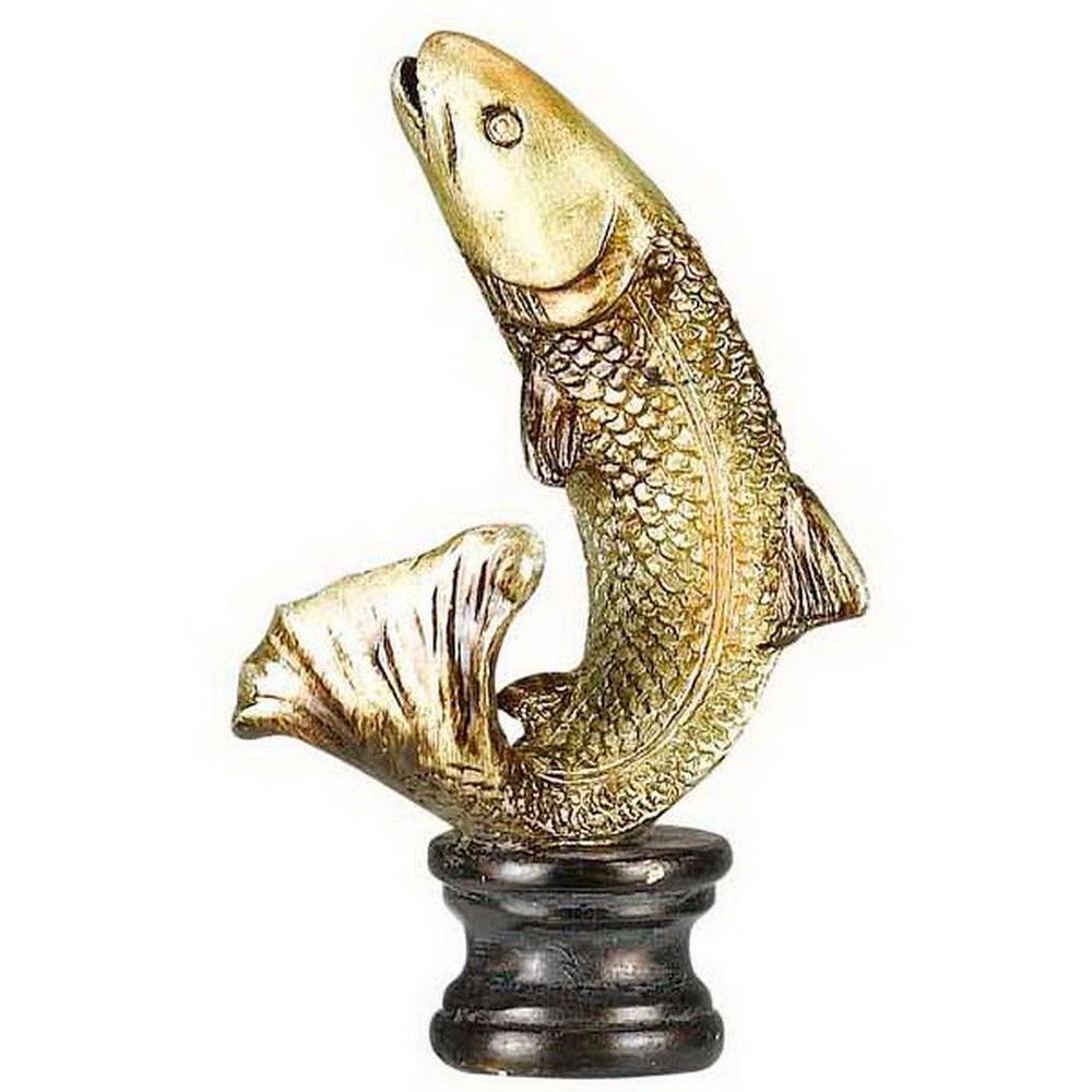 CAL Lighting 2.75 in. Gold Trout Resin Lamp Finial