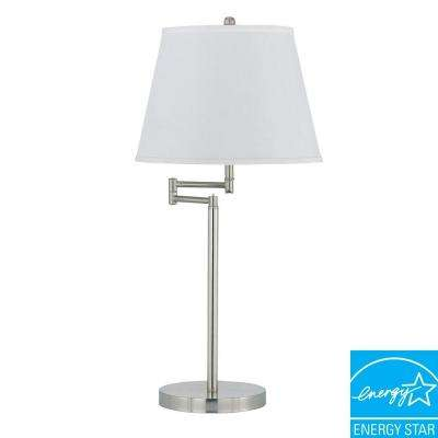 28 in. Andros Table Lamp in Brushed Steel