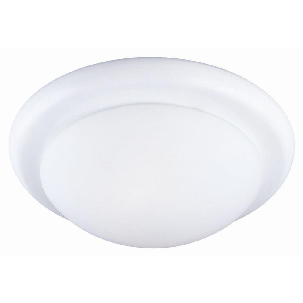 Twist Off 2-Light White Ceiling Light