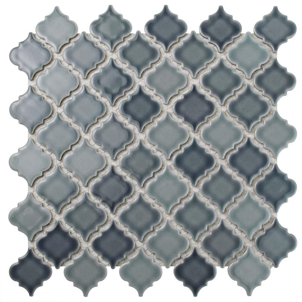 Hudson Tangier Stillwater 12 in. x 12 in. Porcelain Mosaic Tile (10.96 sq. ft. / Case)