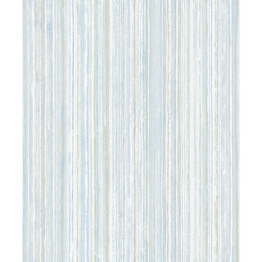 8 in. x 10 in. Grace Green Stripe Wallpaper Sample