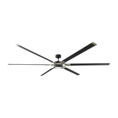 Loft 96 in. Integrated LED Midnight Black Ceiling Fan with Aluminum Blades, DC Motor and 6-Speed Remote Control