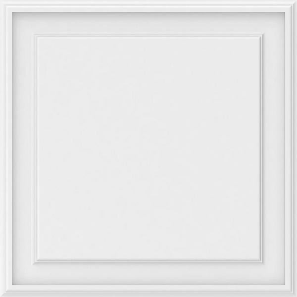 Ekena Millwork 5/8 in. x 2 ft. x 2 ft. Legacy Raised Panel White PVC Decorative Wall Panel