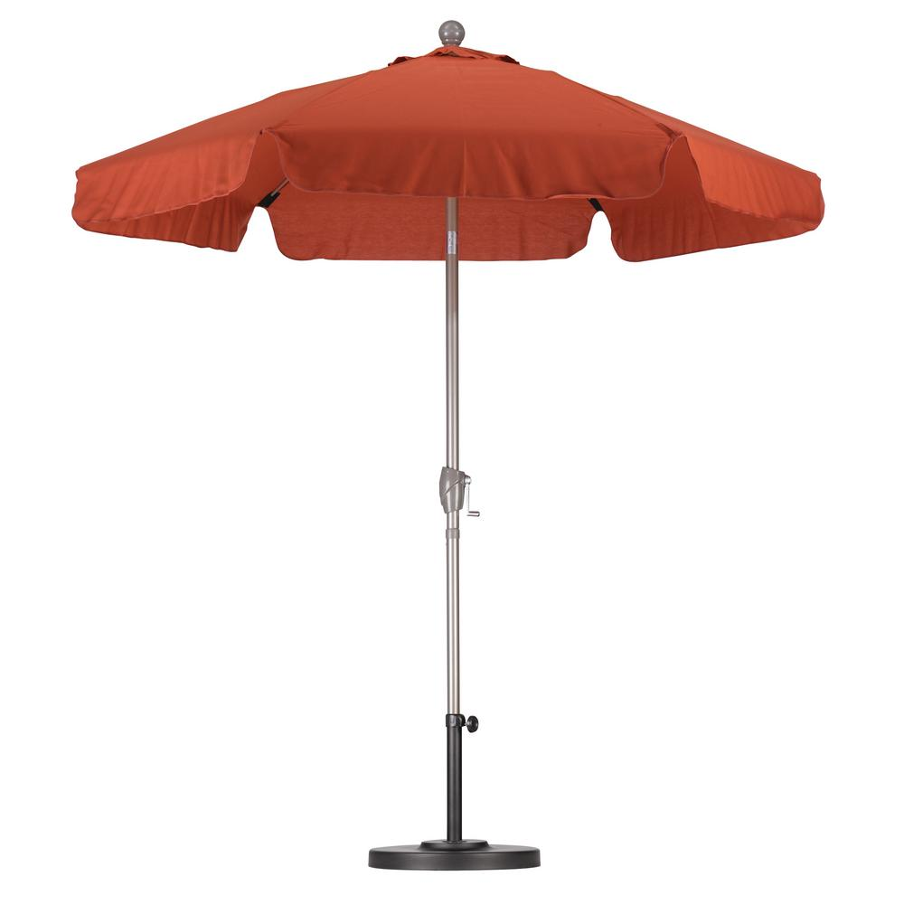 7-1/2 ft. Fiberglass Push Tilt Patio Umbrella in Brick SpunPoly