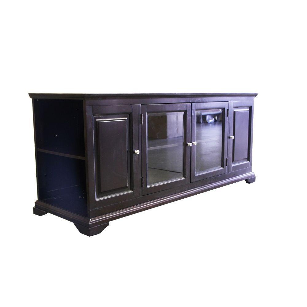Home Decorators Collection Harris Espresso 62 in. W Entertainment Console