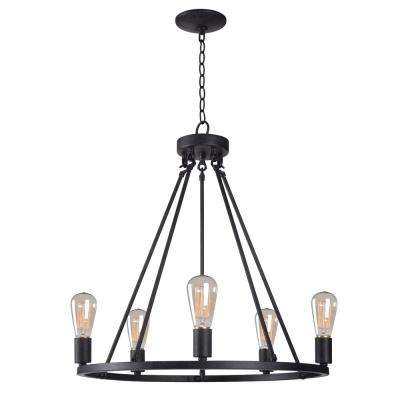 Hixon 5-Light Graphite Chandelier