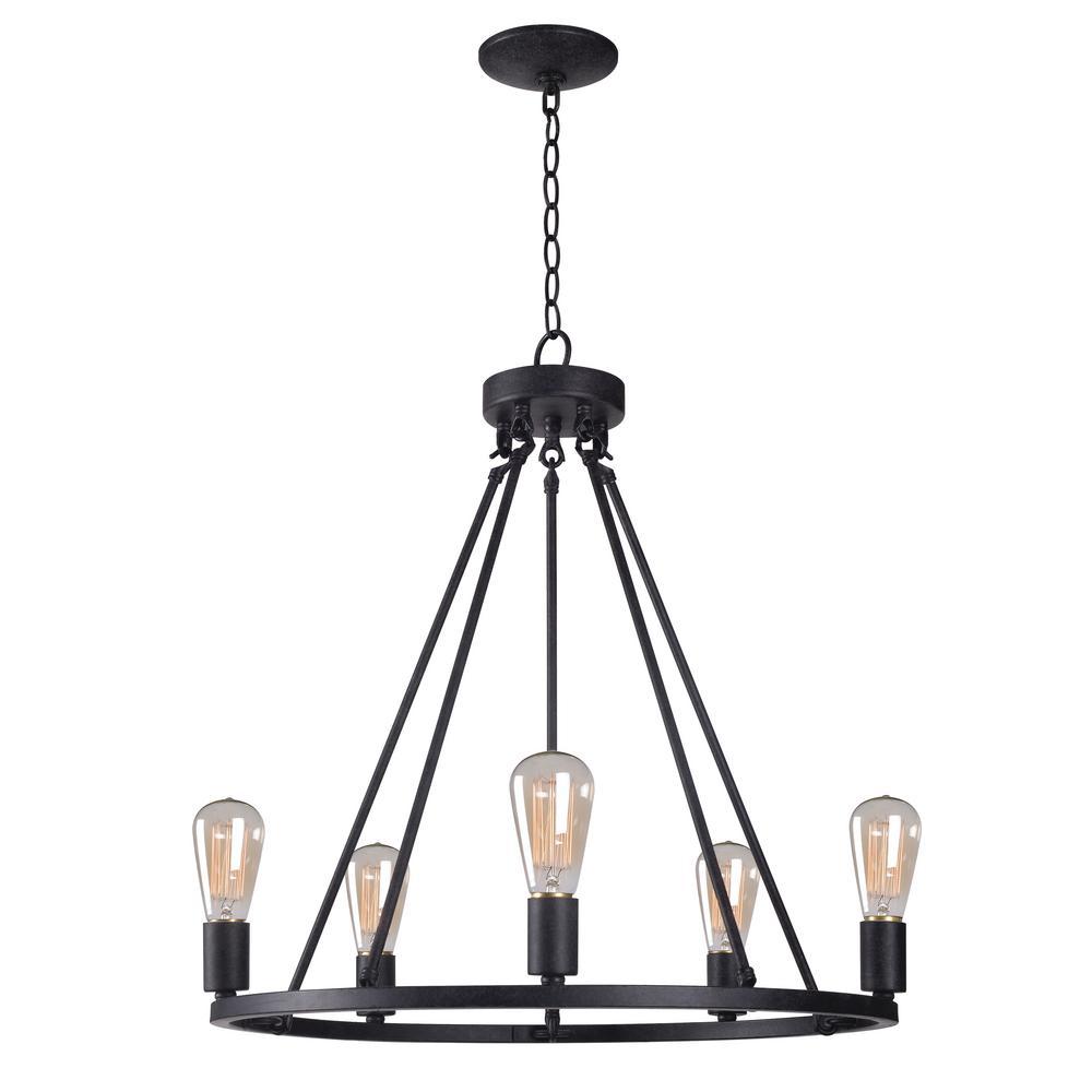 Black Chandeliers Lighting The Home Depot