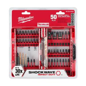 Milwaukee Shockwave Impact Duty Driver Bit Set (50-Piece)-48-32-4024 - The Home Depot