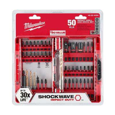 Shockwave Impact Duty Driver Bit Set (50-Piece)