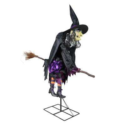 h halloween fancy flying witch