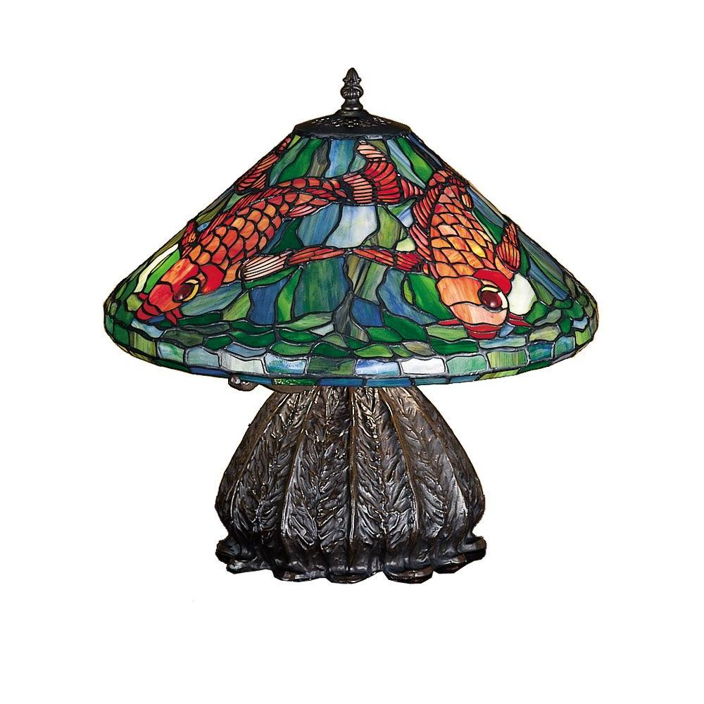 Illumine 3 Light Tiffany Koi Table Lamp