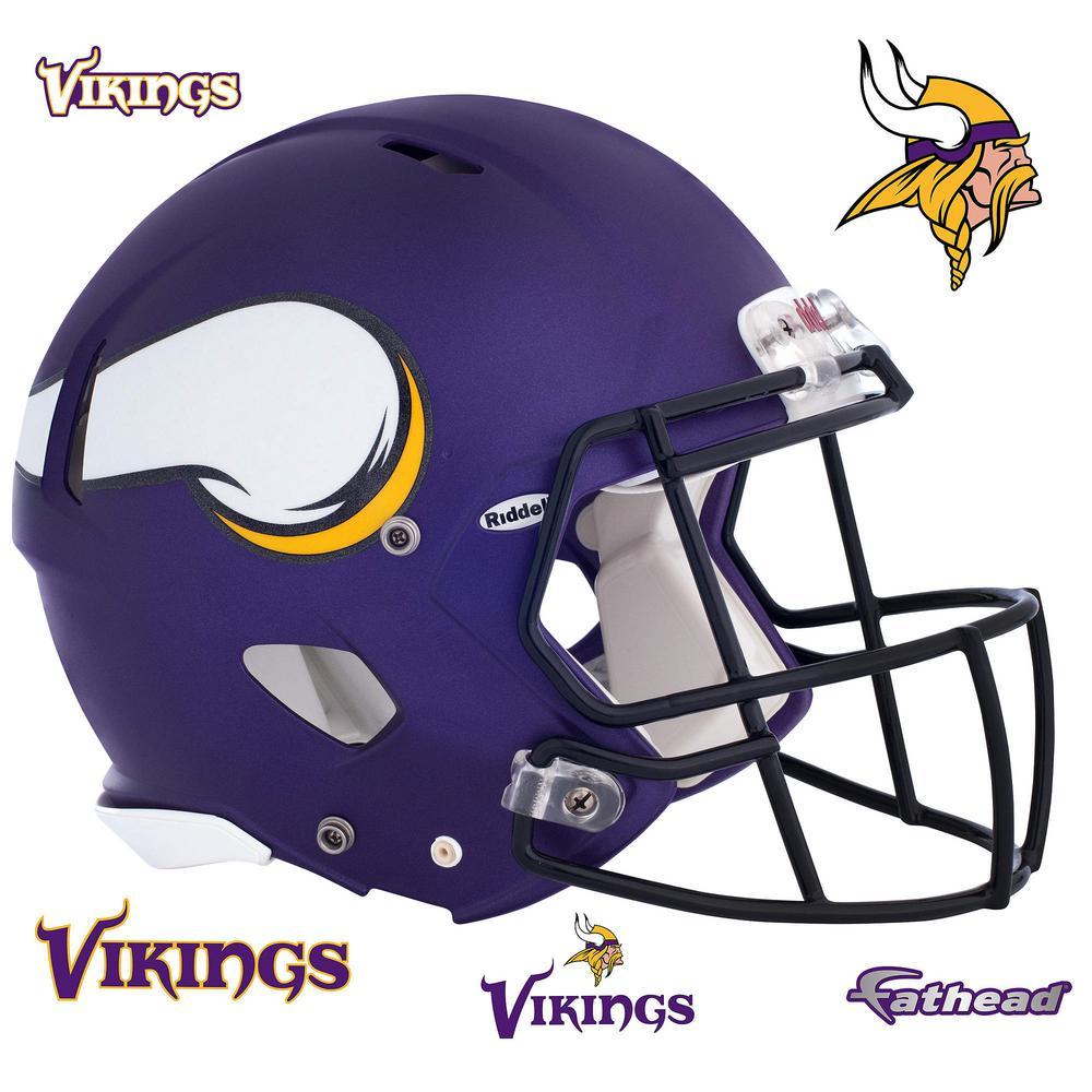 Fathead 42 in. H x 56 in. W Minnesota Vikings Helmet Wall Mural-11-10085 -  The Home Depot 6e9c8dc3b