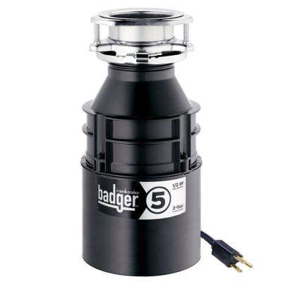 Badger 5 1/2 HP Continuous Feed Garbage Disposal with Power Cord