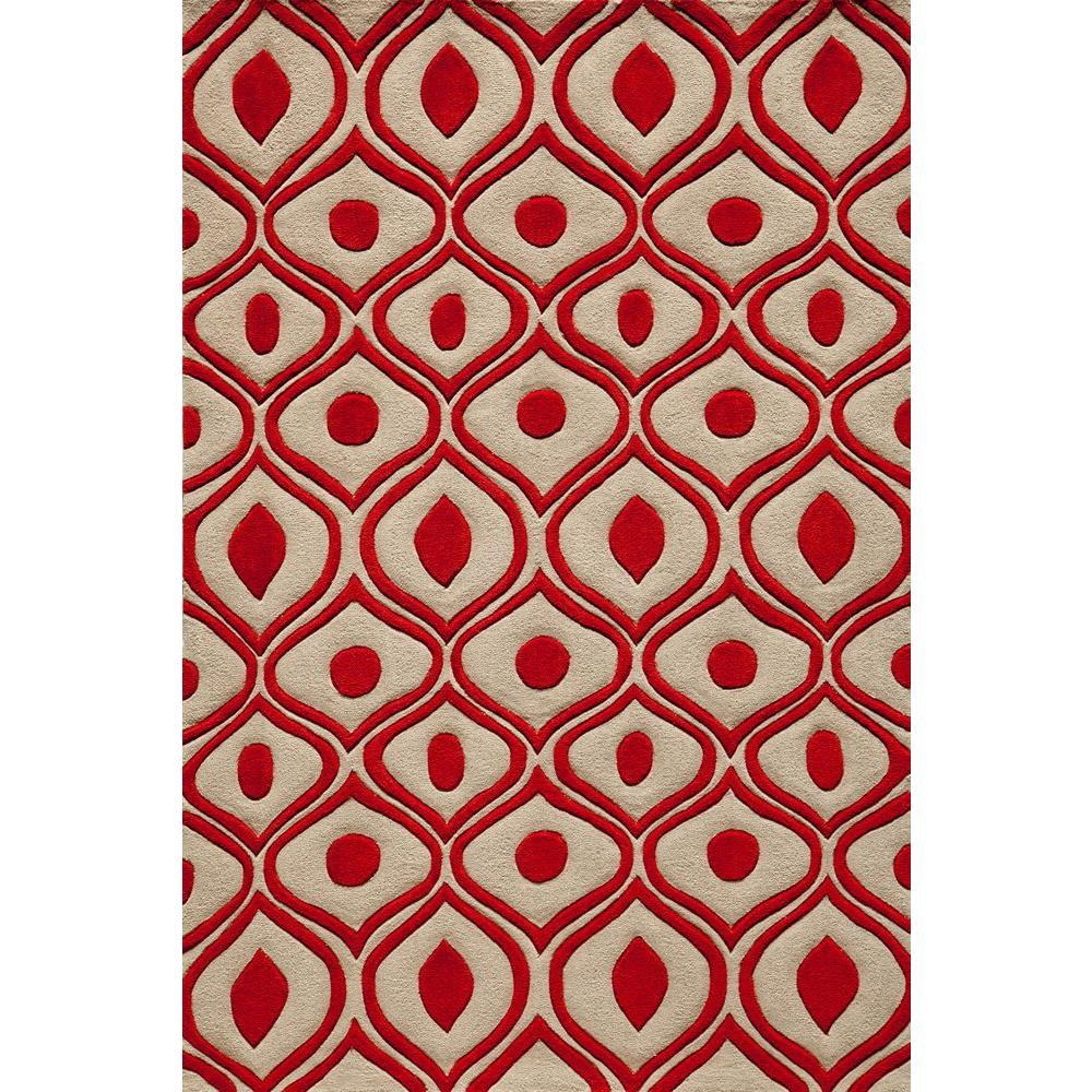 Momeni Ibiza Collection Red 8 Ft X 10 Ft Indoor Area Rug