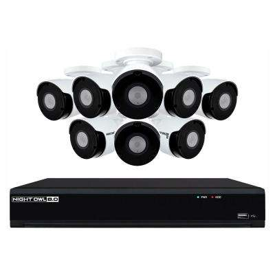 8-Channel 4K UHD Wired Smart Security NVR with 2 TB Hard Drive and 8-4K UHD IP Camera Security System