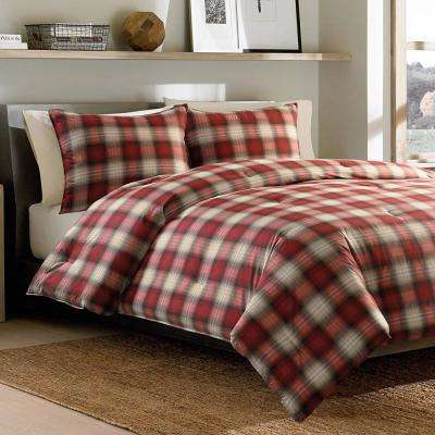 Navigation 2-Piece Red Twin Comforter Set