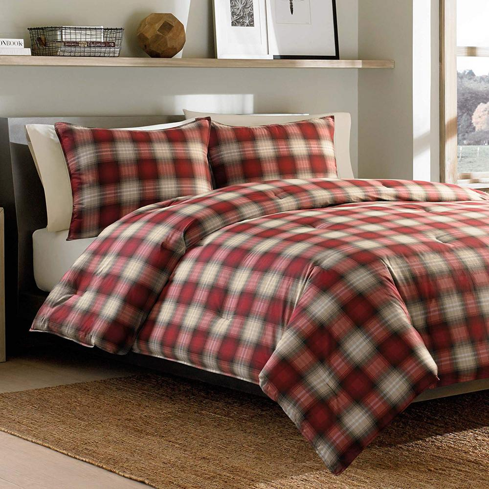 Navigation 3 piece red full queen comforter set