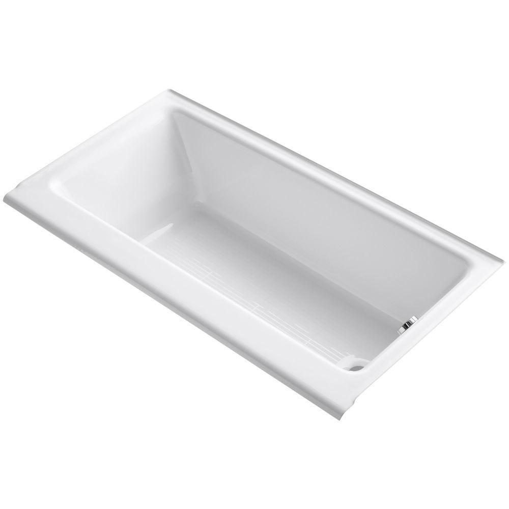 Highbridge 5 ft. Right-Hand Drain Soaking Tub in White