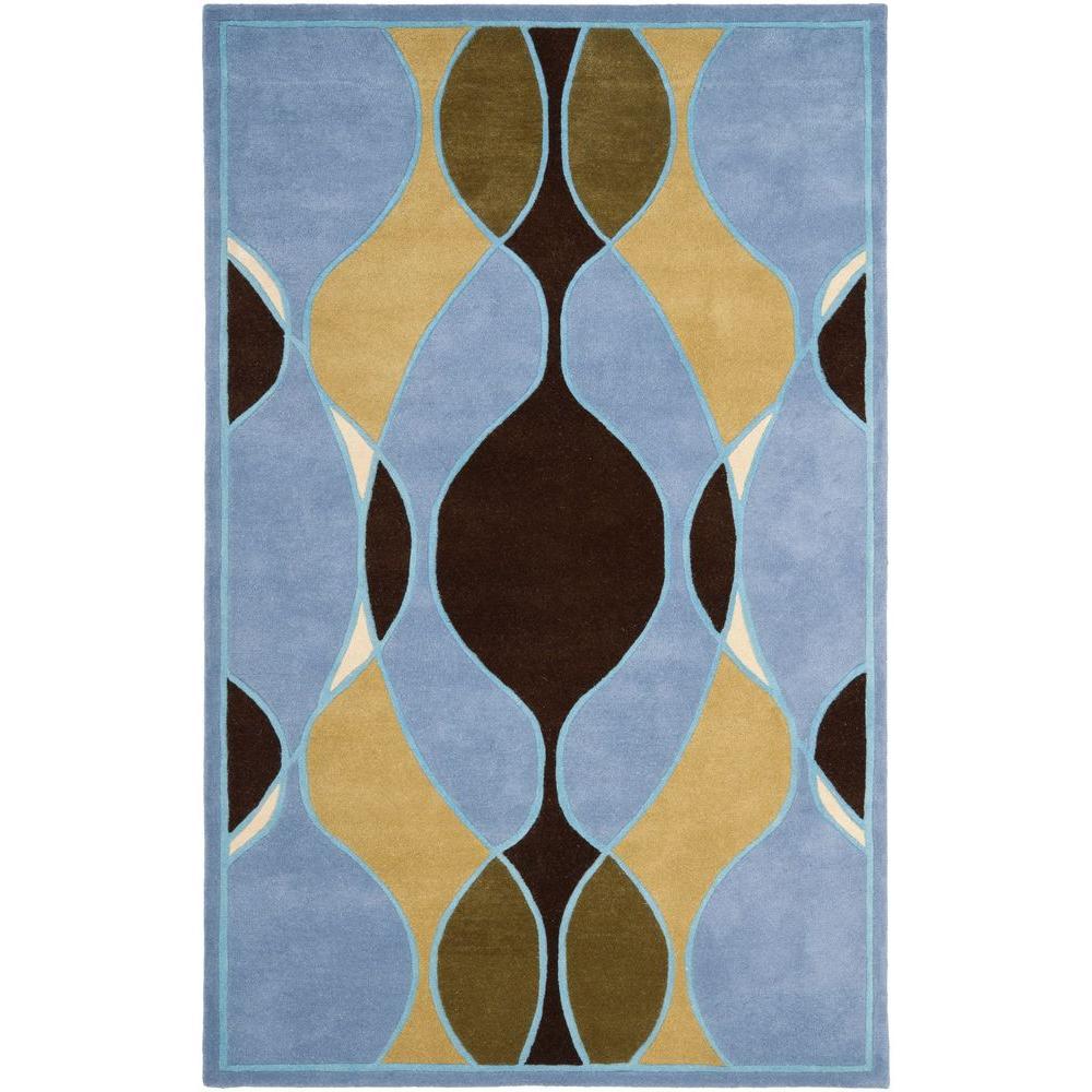 Safavieh Soho Blue/Multi 3 ft. 6 in. x 5 ft. 6 in. Area Rug