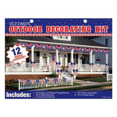 Amscan Patriotic Outdoor Decorating Kit 12 Count 243505