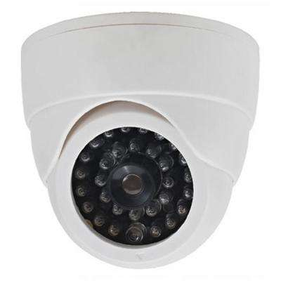 Dummy Security Dome Camera with LED Light (2-Pack)