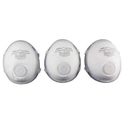 Silicon Molded Large Fine Particle Filtration Respirator Filter Dust Mask (3-Pack)