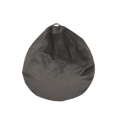 Pewter Velvet Bean Bag