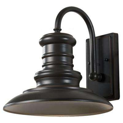 Redding Station 1-Light Restoration Bronze Outdoor Wall Lantern