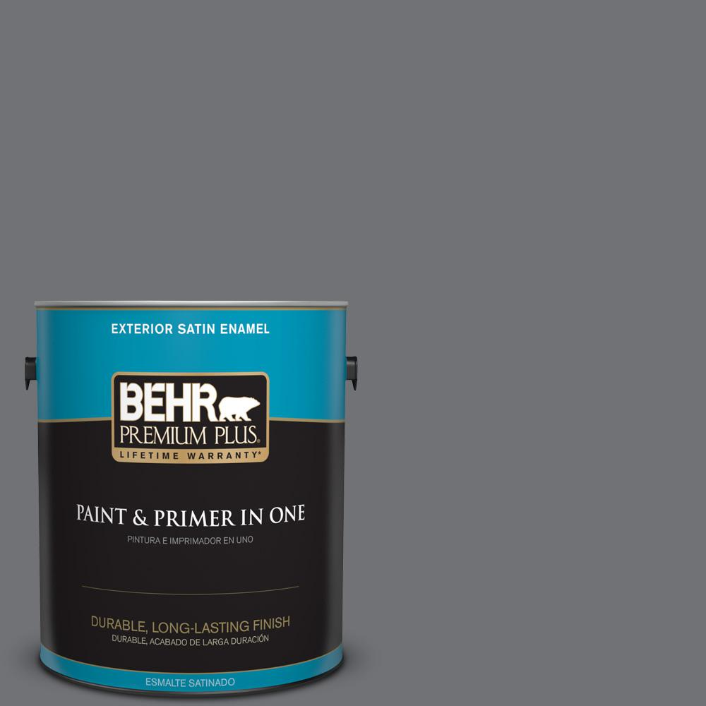 1 gal. #PPU18-03 Antique Tin Satin Enamel Exterior Paint