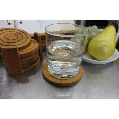 Bamboo Coaster Set (Set of 7)