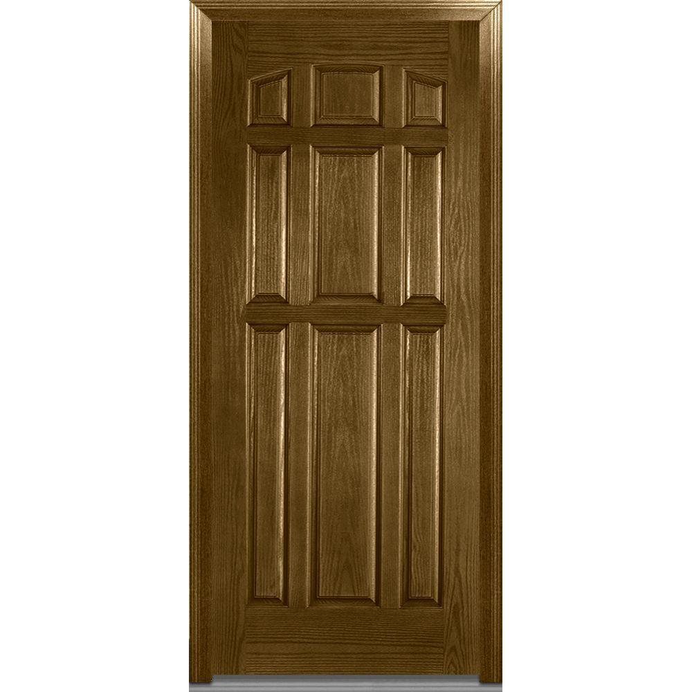Panel X Fiberglass Outswing Door Home Depot