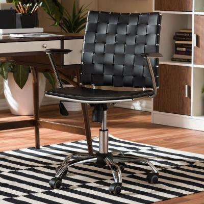 Vittoria Black Bonded Leather Office Chair