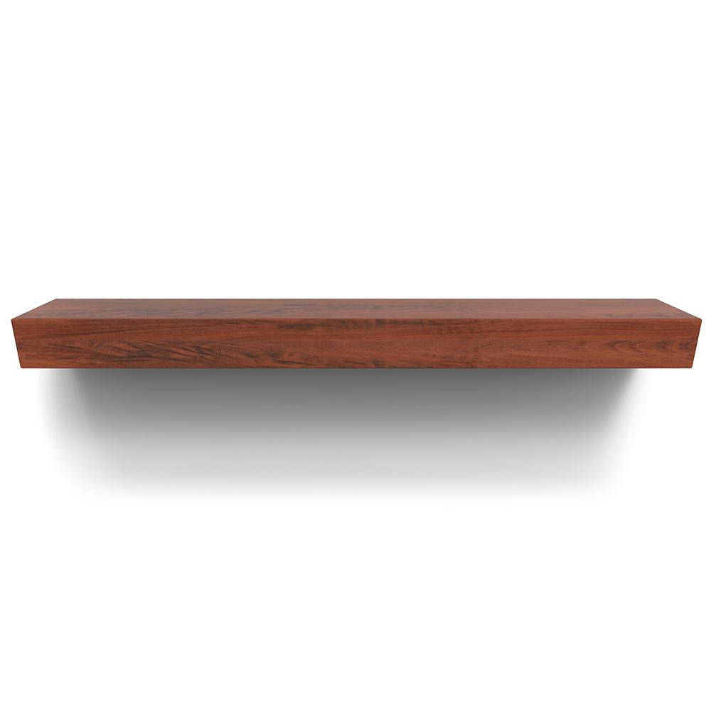 Rustica Hardware Cherokee 72 In X 6 In Mantel Shelf In Mahogany Ms6chma0 The Home Depot