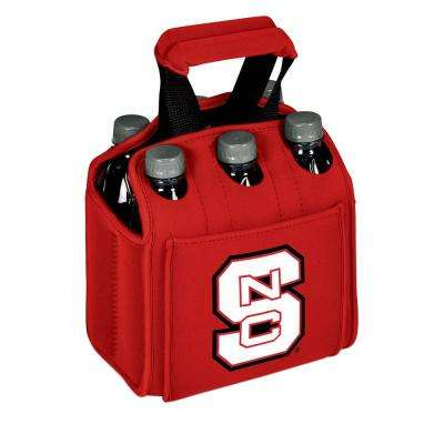 North Carolina State University Wolfpack 6-Bottles Red Beverage Carrier