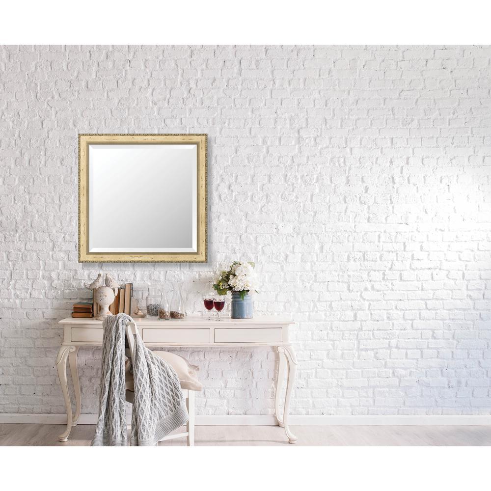 Winthrop 28.375 in. x 28.375 in. Vintage Medium Framed Bevel Mirror