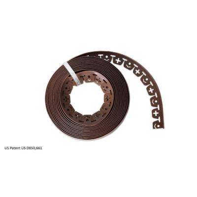 60 ft. L x 2 in. W x 1.5 in. H Light Brown Resin Innovative Edge No Dig Edging with 9 in. Poly Nails (48-Quantity)