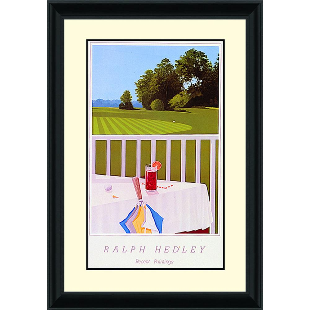 24.in x 32.in''Practice Green'' By PTM Images Framed Printed Wall