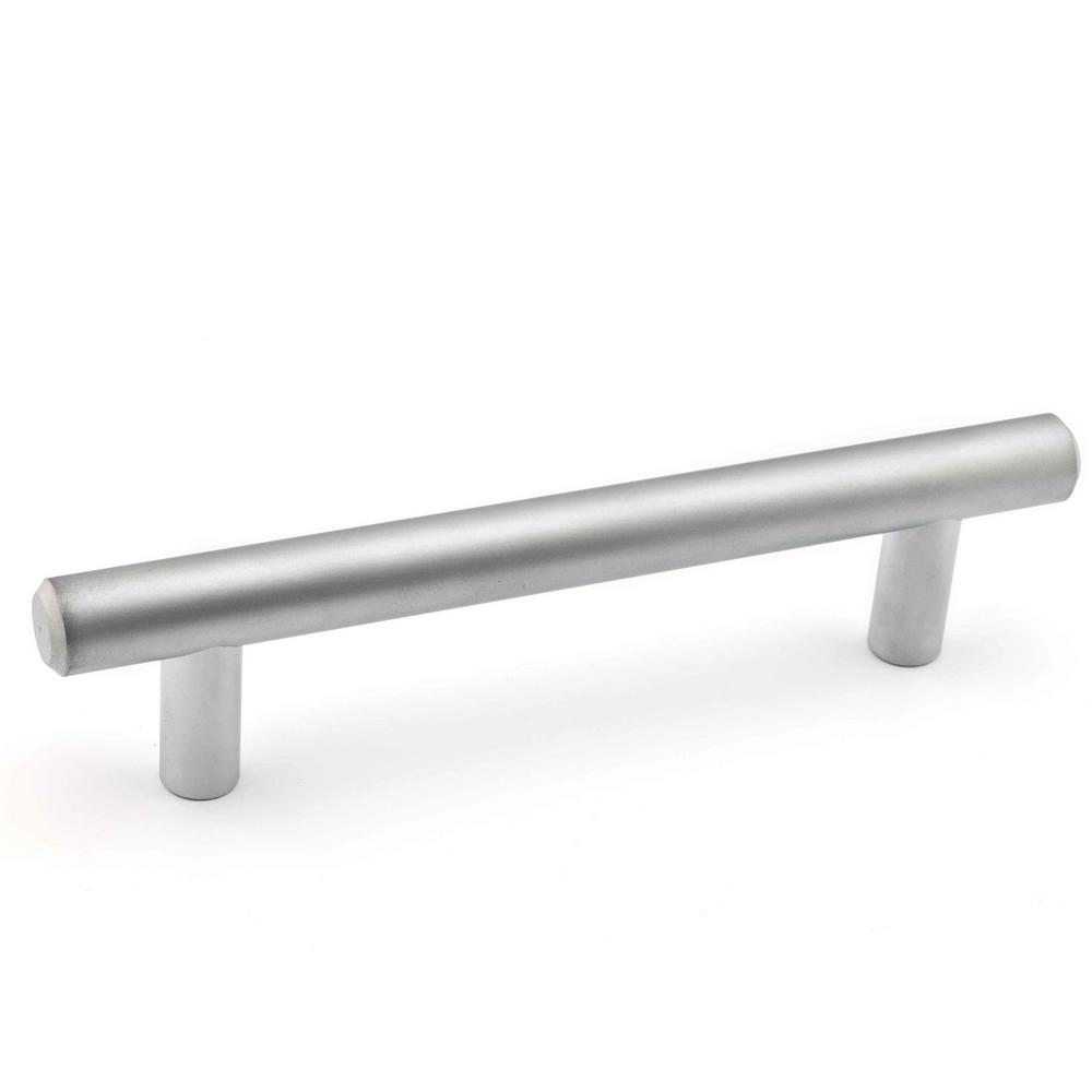 Richelieu Hardware 3-3/4 in. (96 mm) Center-to-Center Matte Chrome Steel Contemporary Drawer Pull