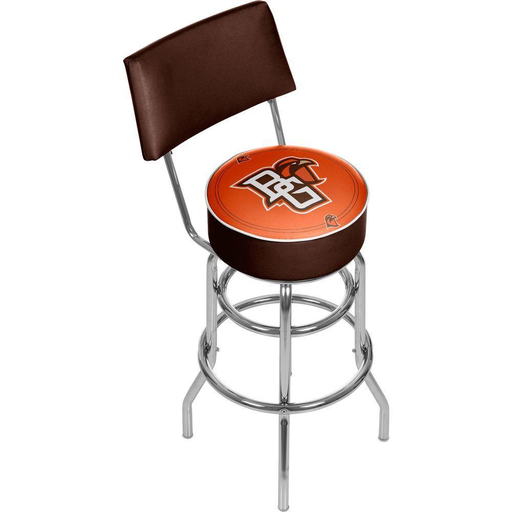 Trademark Bowling Green 31 in. Chrome Padded Bar Stool